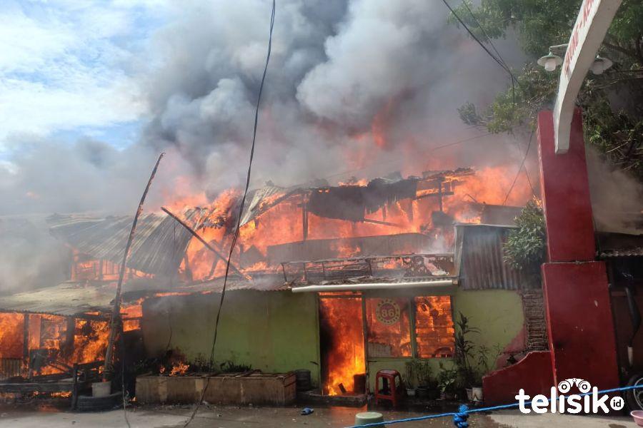 Kebakaran Hebat, Ratakan 7 Rumah Warga